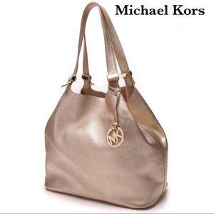 Michael Kors large Colgate grab bag in soft gold